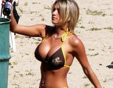 Girl With Big Boobs on the beach