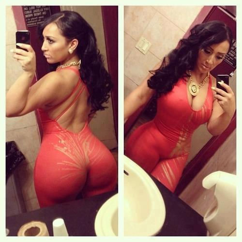 Double dose of a big red sexy booty